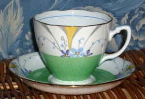 Spring Green Art Deco Tea Set