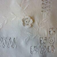 Linen and Crochet Tablecloth