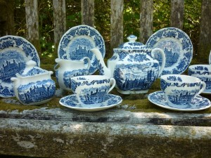 Royal British Homes Blue & White Tea Set