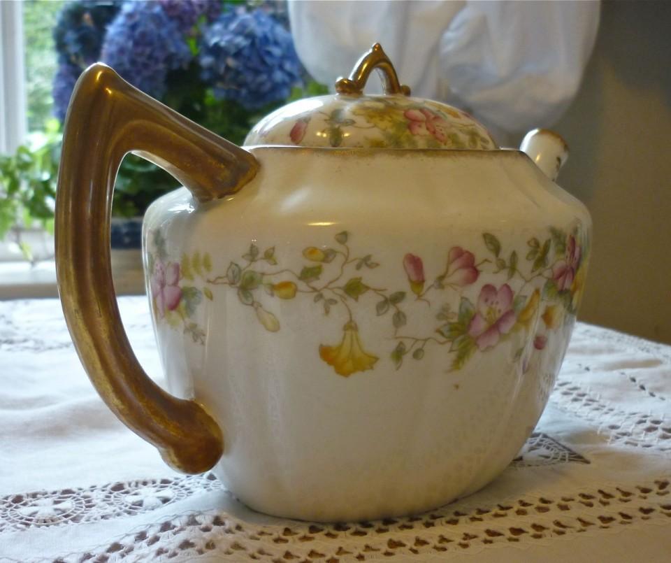 Antique Floral Tea Set