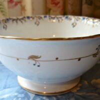 Victorian Tea Set Gold with Blue
