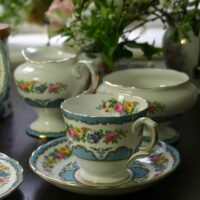 Blue & FLoral tea Set for two