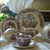 Purple Pastoral Tea Set