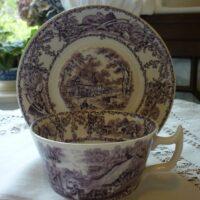 Purple Tea Cup and Saucer
